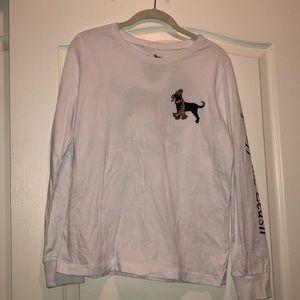 Long Sleeve Black Dog T-shirt